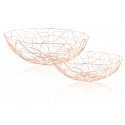 "FABLE Round Bowl 11.8x11.8x4""H,  Rose Gold"